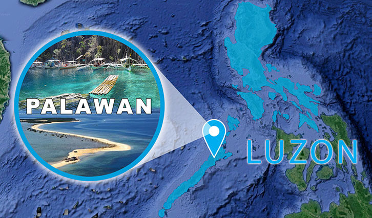 Northern part of Luzon Palawan