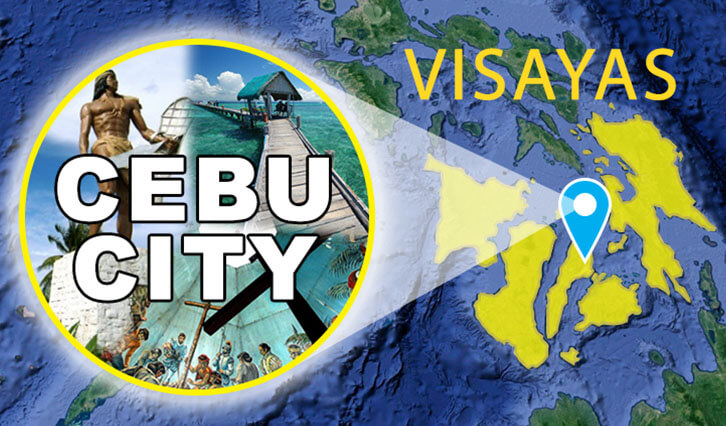 Visayas with the island of Cebu city