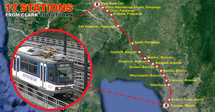 seventeen station from clark to tutuban